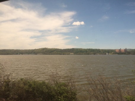 Hudson River from Train