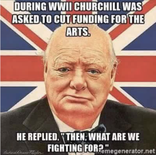 Churchill quote on Art