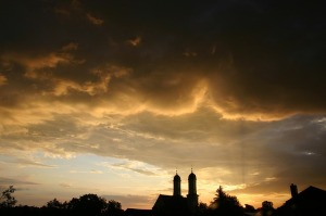 Summer Dusk Sky Thunderstorm Silhouette Clouds